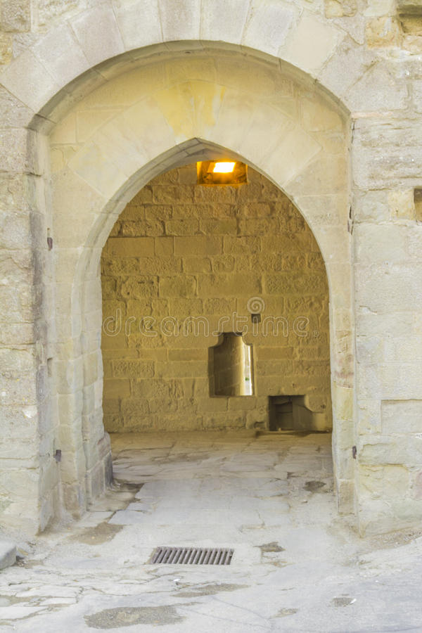 Die mittelalterliche Festung von Carcassonne lizenzfreies stockfoto