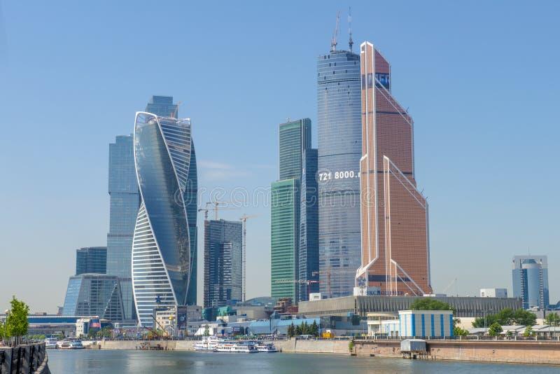 Die moderne Geschäftszentrum Moskau-Stadt lizenzfreie stockfotos