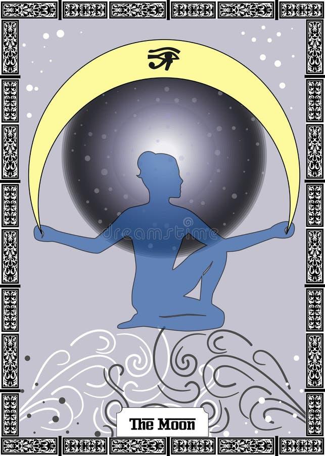 Die Mondkarte stock abbildung