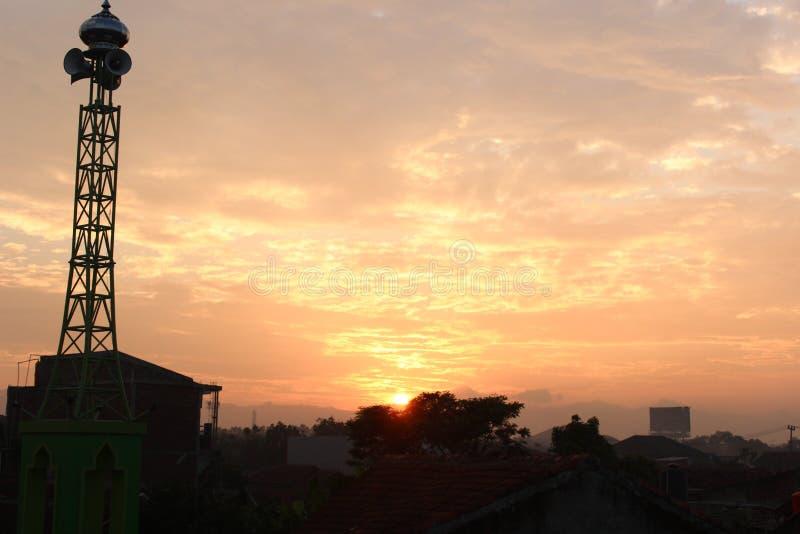 Die Morgensonnenschönheit stockfoto