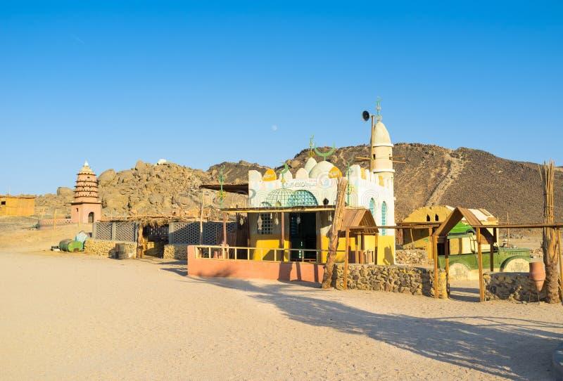 Die Moschee im Dorf stockfotos