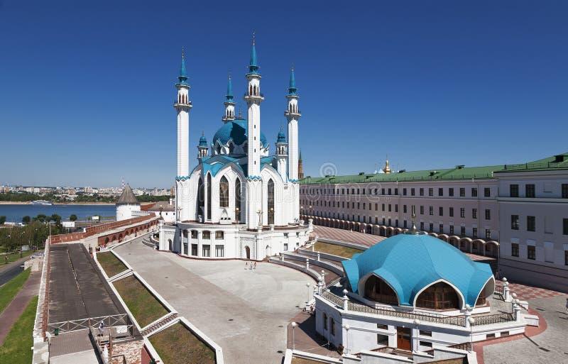 Die Moschee Kul Sharif im Kasan der Kreml lizenzfreie stockfotografie