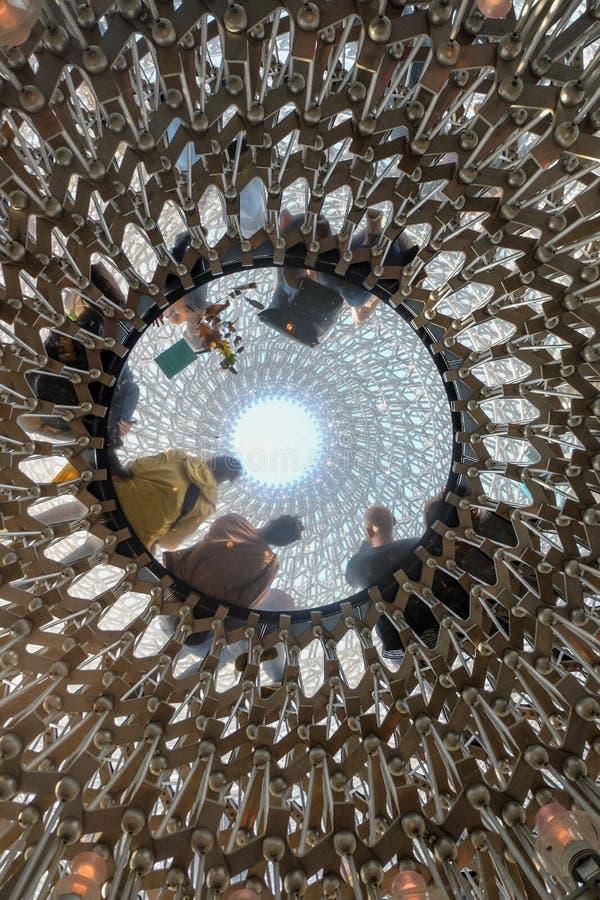 Die multisensorische Installation des Bienenstocks in Kew-Gärten stockfotografie