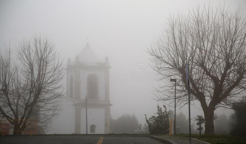 Die Myst-Kirche lizenzfreie stockfotografie
