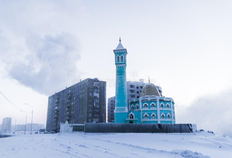 Die nördlichste Moschee in Norilsk, Russische Föderation stockfotos