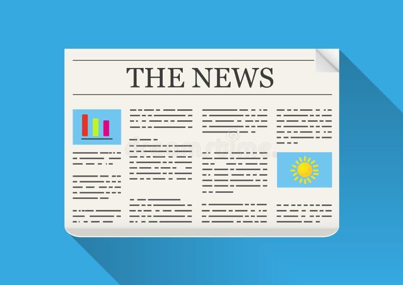 Die Nachrichten lizenzfreie abbildung