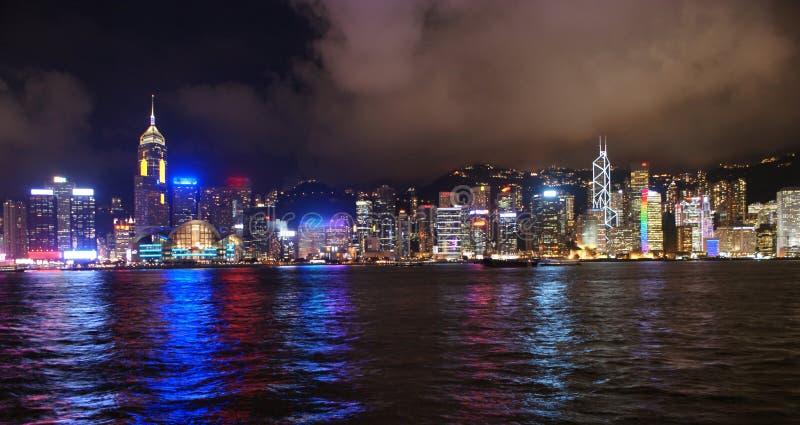 Die Nacht szenisch von Hong Kong lizenzfreies stockfoto