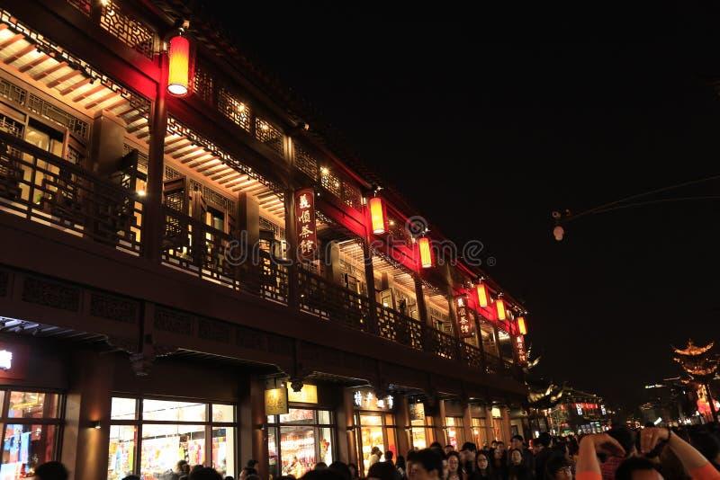 Die Nacht von FuZimiao lizenzfreie stockfotos