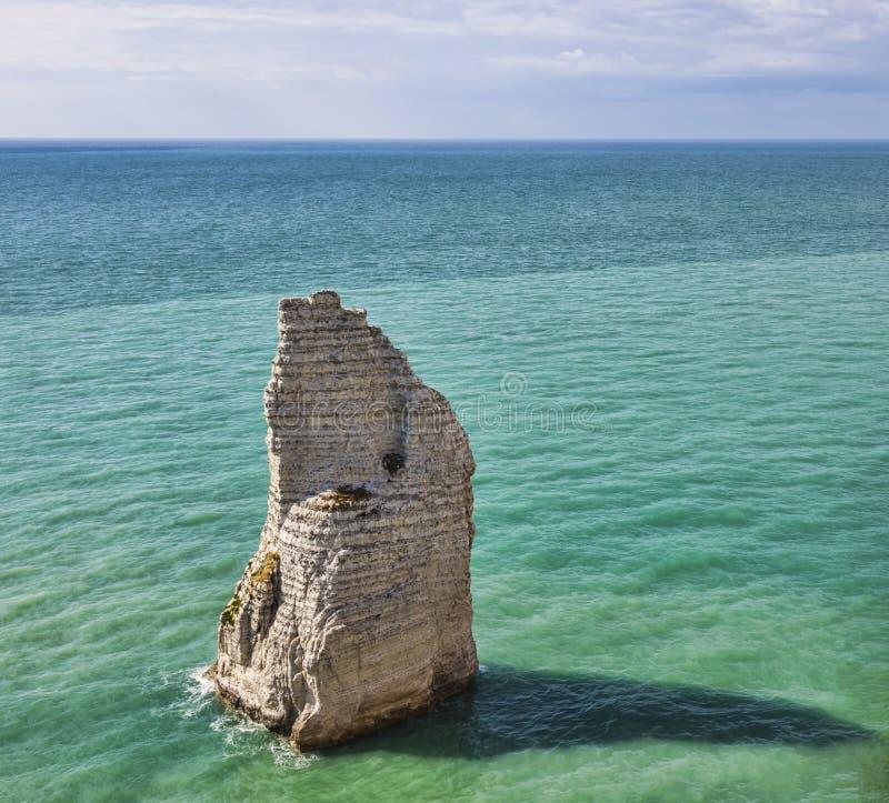 Die Nadel stein- Etretat, Normandie, Frankreich stockfotos