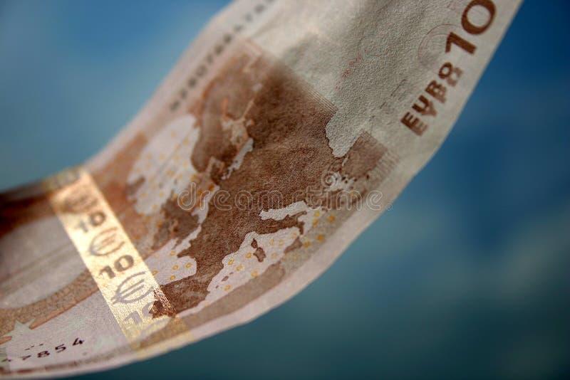 Die Nahaufnahme von 10 Euro stockfotos