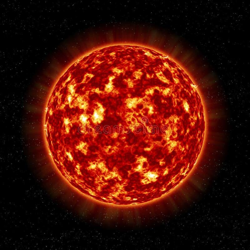 Die Nahaufnahme von Sun-Stern lizenzfreie abbildung