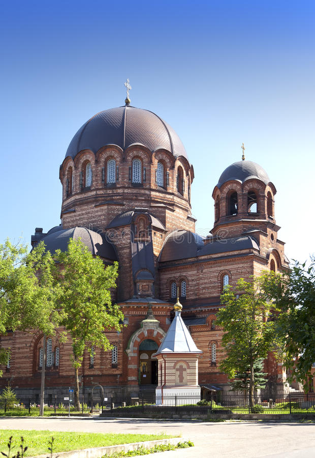 Die Narva Voskresensky Kathedrale, orthodoxer Tempel Narva Estland stockfotografie