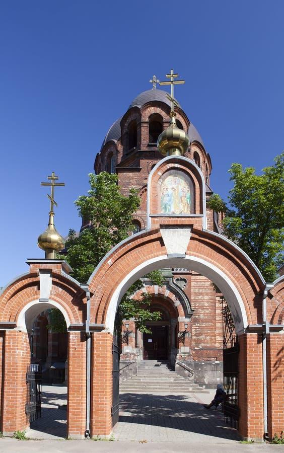 Die Narva Voskresensky Kathedrale, orthodoxer Tempel Narva Estland lizenzfreie stockbilder