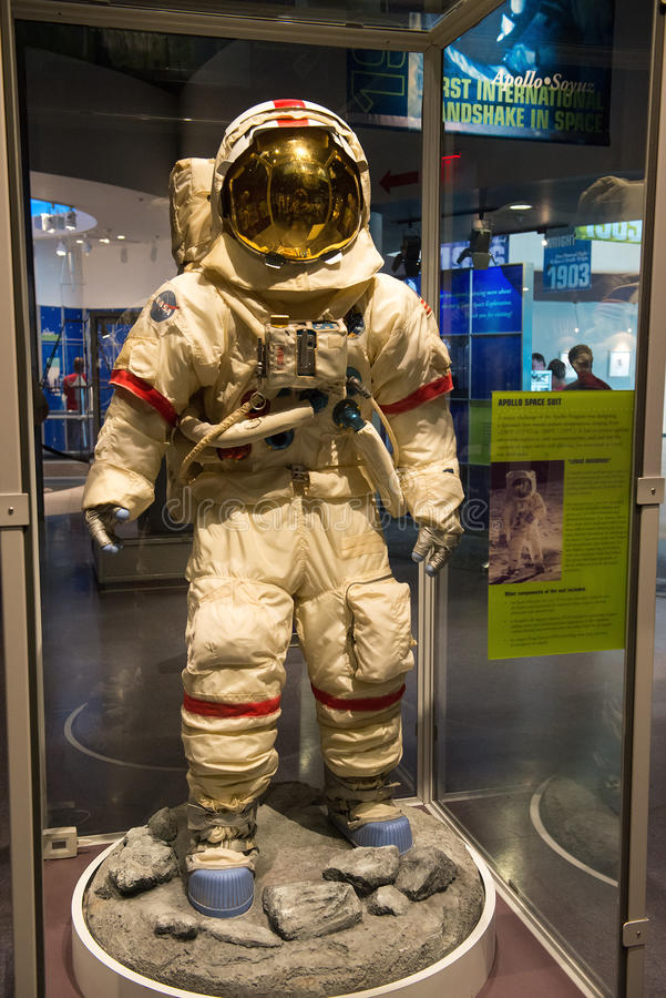 Die NASA Apollo Space Program Spacesuit lizenzfreie stockfotos