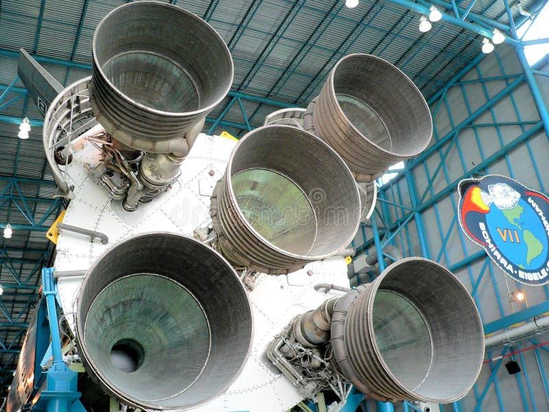 Die NASA, die Kennedy Space Center Florida errichtet stockfotos