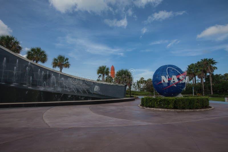 Die NASA Kennedy Space Center Visitor Complex in Florida lizenzfreie stockfotografie