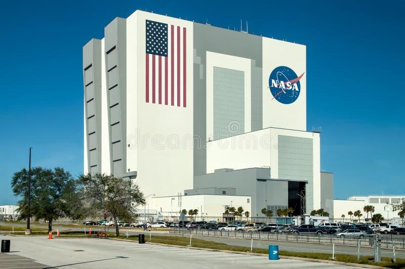 Die NASA-Produkteinführungs-Steuerung bei Kennedy Space Center, Cape Canaveral stockbilder