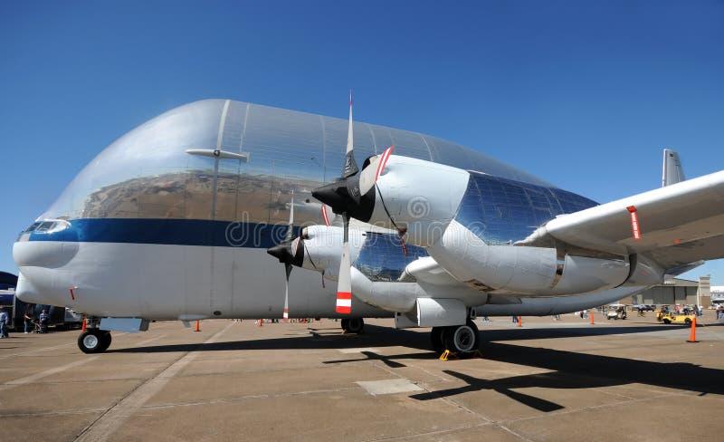 Die NASAsuperGuppyflugzeug stockfoto