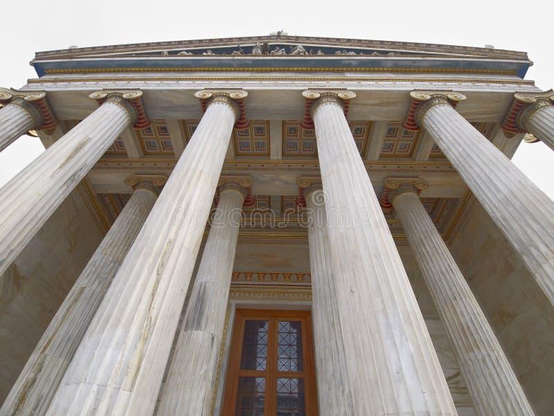 Die nationale Akademie, Athen Griechenland stockbilder
