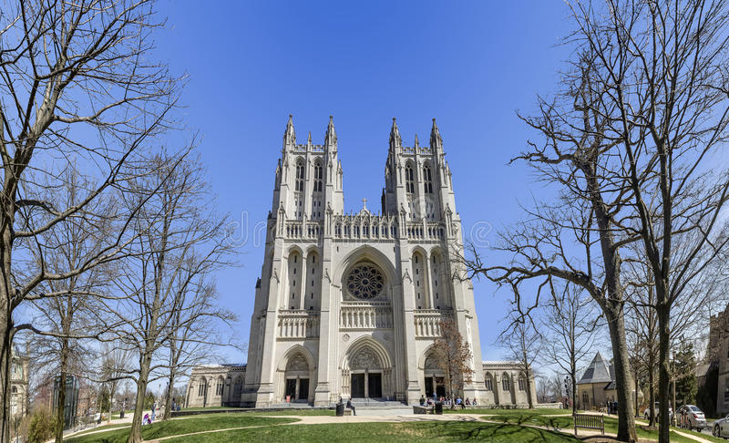 Die nationale Kathedrale, Washington DC lizenzfreies stockfoto