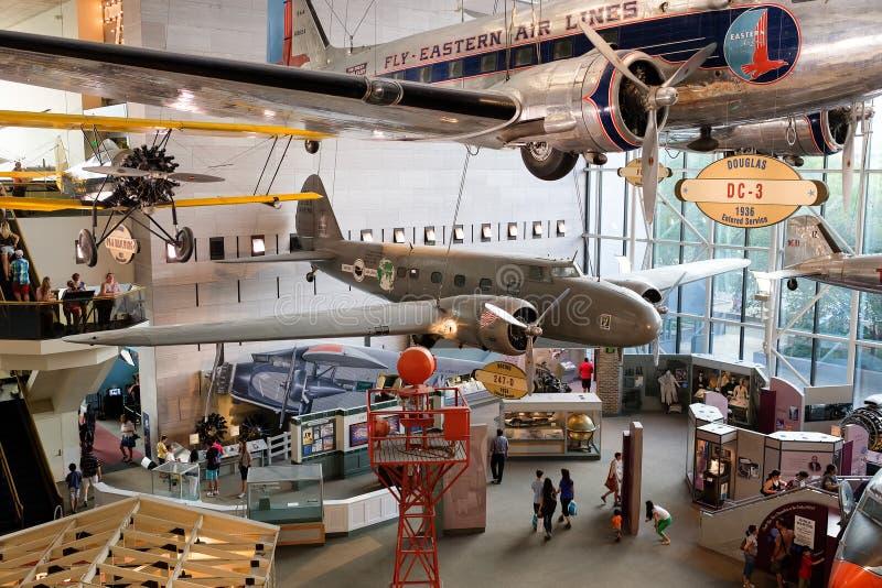 Die nationale Luft und das Weltraummuseum in Washington D C stockbilder