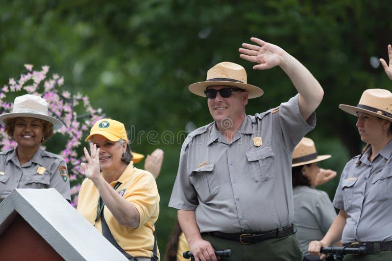 Die nationale Memorial Day -Parade stockfotos