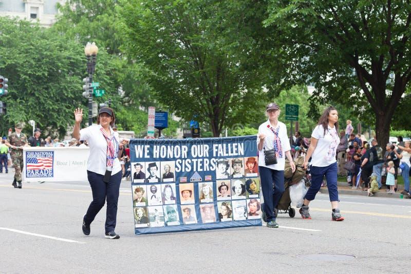 Die nationale Memorial Day -Parade stockfoto