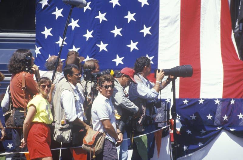 Die nationale politische Presse stockfotografie