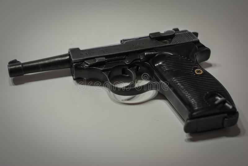 Die Nazi-militärische automatische Pistole Deutschlands von der Ära des Weltkriegs 2 lizenzfreie stockfotografie