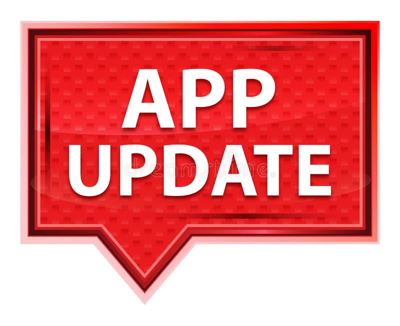 Die nebelhafte app-Aktualisierung stieg rosa Fahnenknopf lizenzfreie abbildung
