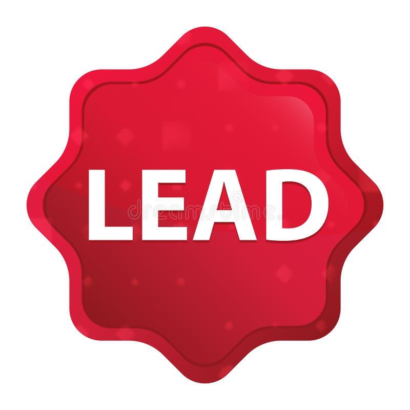 Die nebelhafte Führung stieg roter starburst Aufkleberknopf lizenzfreie abbildung