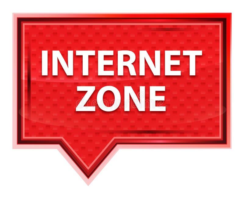 Die nebelhafte Internet-Zone stieg rosa Fahnenknopf stock abbildung
