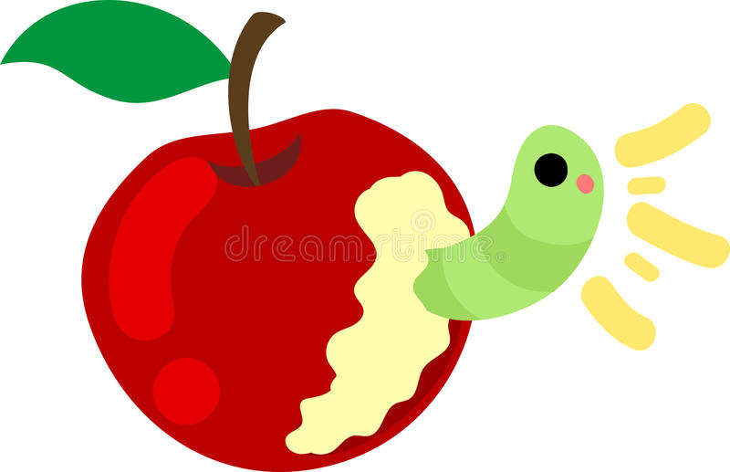 Die nette Illustration eines Apfels vektor abbildung