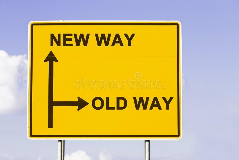 Die neue alte Weise stockfotos
