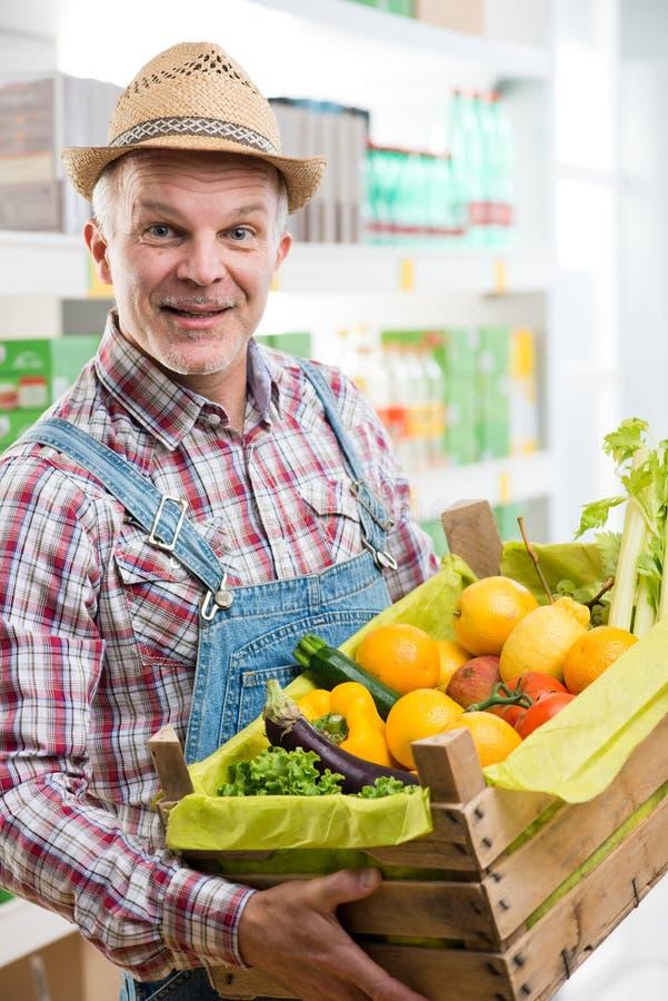 Die neue Ernte des Landwirts stockfotos