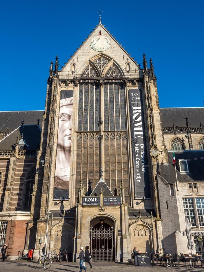 Die neue Kirche in Amsterdam stockbild