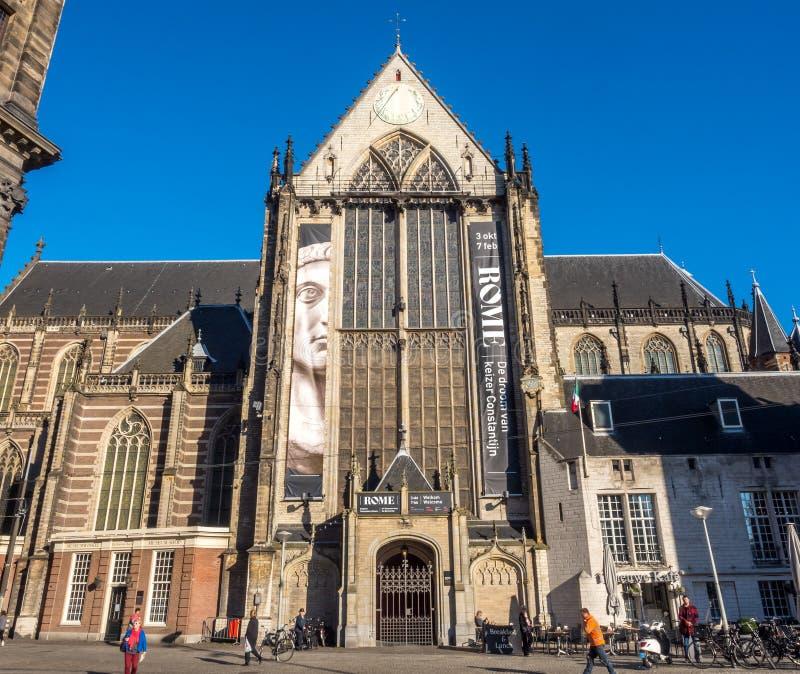 Die neue Kirche in Amsterdam lizenzfreies stockfoto