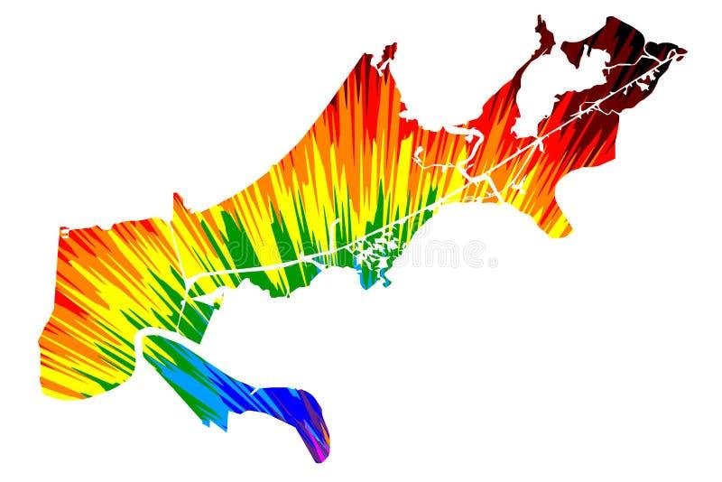 Die New- Orleansstadt Vereinigten Staaten von Amerika, USA, U S , Ist St?dte US, Vereinigte Staaten, USA-Stadtplan entworfene Reg stock abbildung