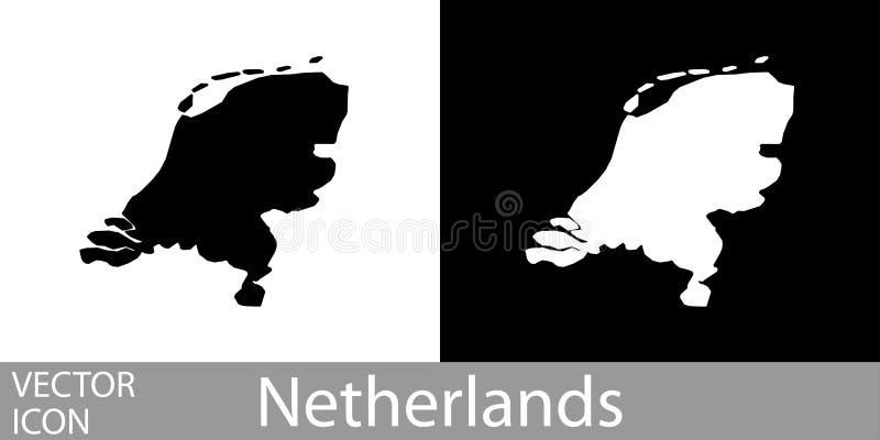 Die Niederlande führten Karte einzeln auf lizenzfreie abbildung