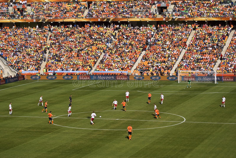 Die Niederlande gegen Dänemark - FIFA-WC 2010 stockfoto