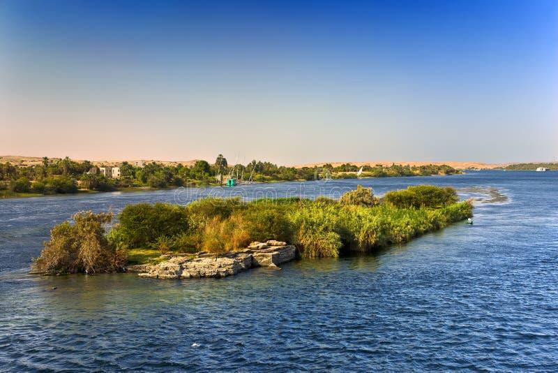 Die Nil-Landschaft stockfoto