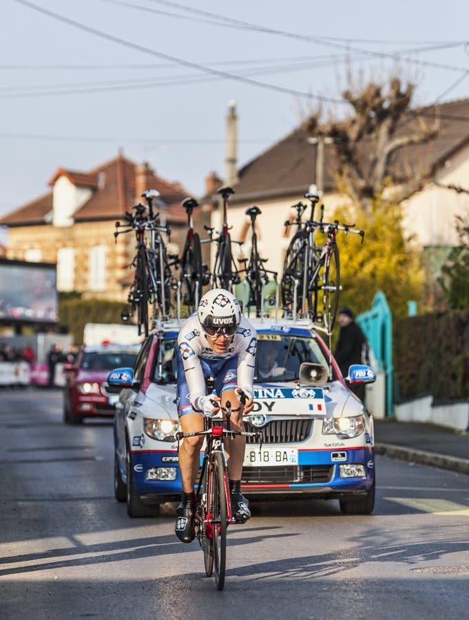 Die Nizza Einleitung 2013 Radfahrer Jérémy Roy Paris in Houilles
