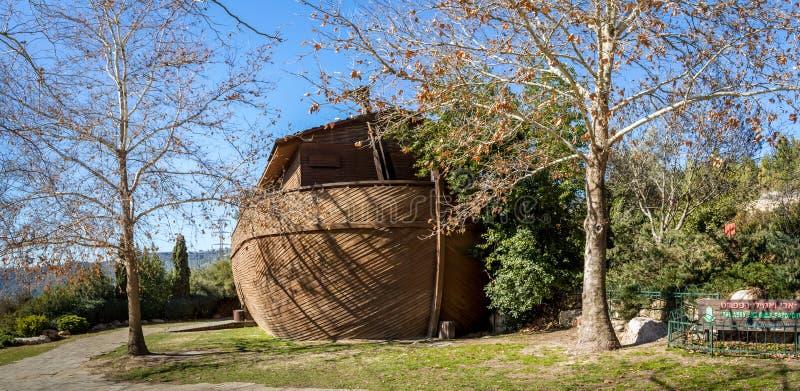Die Noah-` s Arche in biblischem Zoo Jerusalems, Israel stockfotos