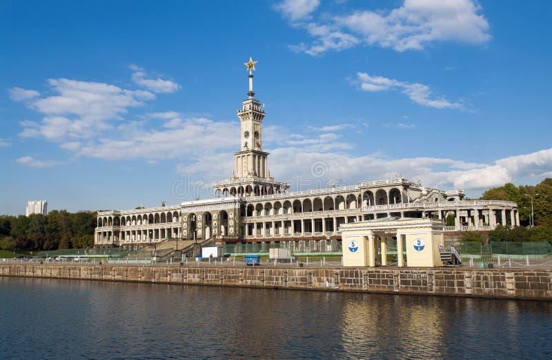 Die Nordflussstation in Moskau stockfotos