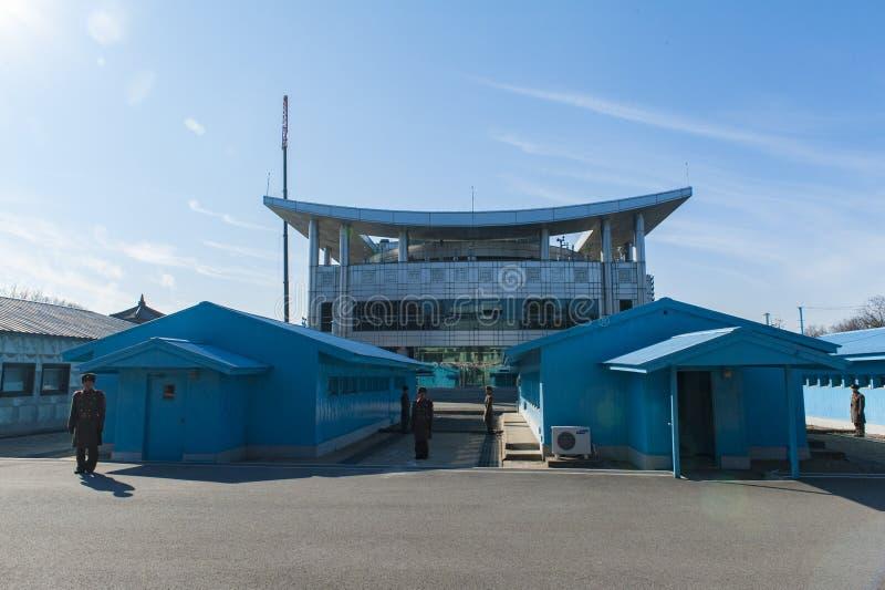 Die nordkoreanische Ansicht des Panmunjom stockfoto