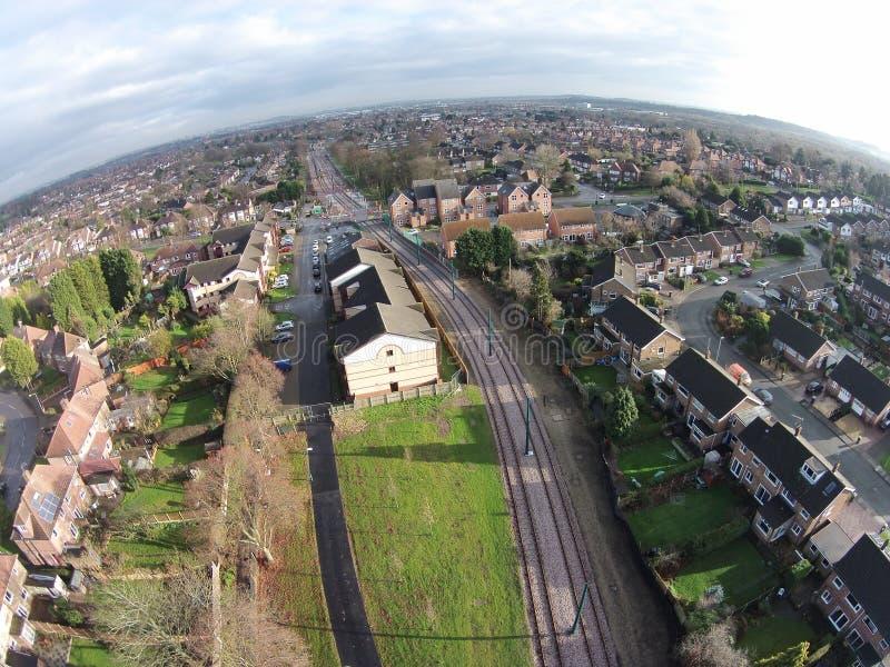 Die Nottingham-Skyline lizenzfreies stockfoto