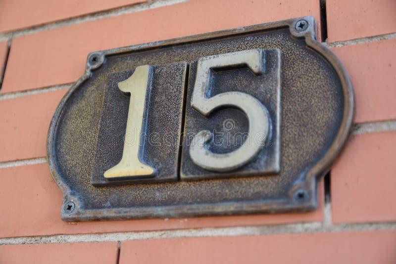 Die Nr. fünfzehn stockfoto