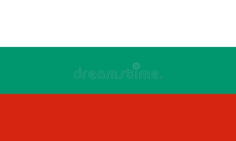 Die offizielle Flagge von Bulgarien stockbilder