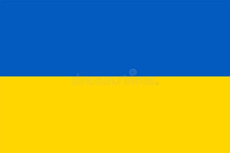 Die Originalflagge der Ukraine,Vector Illustration die Farbe des Originals, der offiziellen Farben und des Proportion korrekt,Kor lizenzfreie abbildung