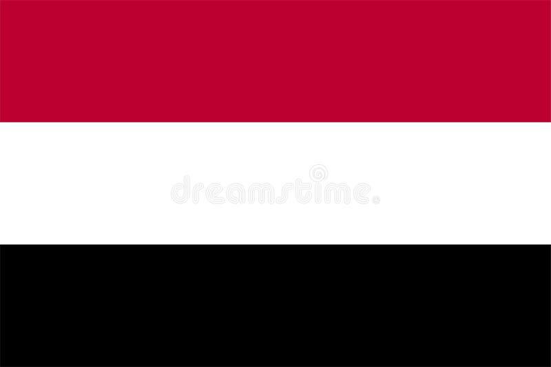 Die Originalflagge des Jemen,Vector illustriert die Farbe des Original, der offiziellen Farben und der Proportion korrekt, isolie stock abbildung